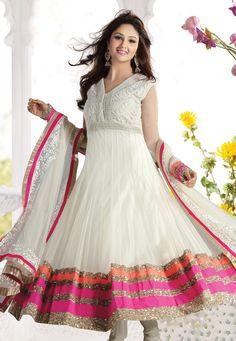 #White Net #Churidar Kameez @ $228.22