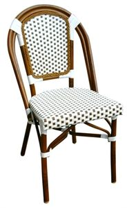 Bamboo Aluminum - $99.00 USD This new spectacular item can be used for indoor and outdoor use. Durable and maintenance free. Gives any restaurant or home a contemporary country look. http://commercialseats.com/Products/625-bamboo-aluminum.aspx #furniture #restaurant #bamboochair