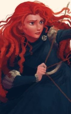 Brave is set in the mystical Scottish Highlands, where Merida is the princess of a kingdom ruled by King Fergus and Queen Elinor. An unruly daughter and an accomplished archer, Merida one day defies a. Disney Pixar, Disney Fan Art, Walt Disney, Disney And Dreamworks, Disney Animation, Disney Magic, Disney Movies, Disney Characters, Merida Disney