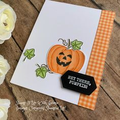 Stampin' Up! Harvest Hellos Halloween Card – Stamp It Up with Jaimie Stampin' Up! Harvest Hellos Halloween Card – Stamp It Up with Jaimie Fabric Cards, Paper Cards, Card Making Inspiration, Making Ideas, Fall Cards, Holiday Cards, Pumpkin Cards, Paper Pumpkin, Up Halloween