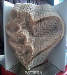 5 inverted Heart Book Folding Pattern by BOOKFOLDINGPATTERNS
