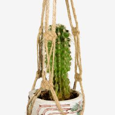 20 inches NATURAL JUTE Macrame  Plant Pot  Hanger - Gift Idea - Indoor - Home Decor - 3mm Cord Hanging Planter - Cactus Holder by DanceOfTheSoul on Etsy