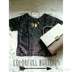 Colorfull buttons Only 80k Fit to L  Material satin Contact person: 085290008612 pin bb 52670457 only for serius buyer