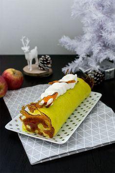 Recette de Noël : Bûche au chocolat blanc et pommes caramélisées façon Tatin