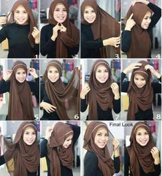 Once again a simple hijab tutorial that requires a very few pins! (Yeah! for sisters like me who frequently lose track of your precious pins!) Sisters who have a heart shaped face try to avoid styl...