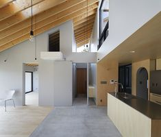 House in Usuki is a minimal residence located in Kyushu, Japan, designed by Kenta Eto Architects Minimalist Architecture, Modern Architecture House, Minimalist Interior, Residential Architecture, Interior Architecture, Interior Design, Oita, Roof Design, House Design