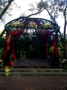 Southern California Wedding Outdoor Gazebo wedding ceremony - Padua Hills Theatre