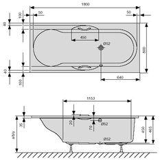 Duscholux Ancona 242 Vario kunststof bad acryl rechthoekig - 603242000001