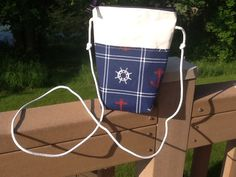 Sailcloth crossbody purse tote made of recycled sail, hipster, by Sailknot on Etsy