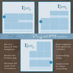 freebie love - Project 365 templates