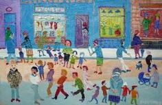 Fred Yates stunning Northern Street Scene oil on canvas Bold Colors, Colours, University Of Liverpool, Brighton And Hove, Ordinary Lives, Naive Art, Ceramic Decor, Sign Printing, Limited Edition Prints
