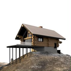 Tiny House Exterior, Cottage Exterior, House On Stilts, House Roof, Shed Homes, Log Homes, A Frame House Plans, Small Log Cabin, Weekend House