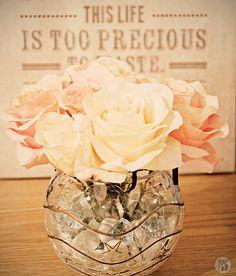 diy fake flower arrangements | Easy and inexpensive DIY silk flower arrangement | Geeky Posh