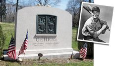 Cemetery Monuments, Cemetery Headstones, Cemetery Art, Famous Tombstones, Lou Gehrig, Grave Markers, Famous Graves, 10 Pm, June 19