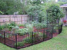 great backyard garden-ideal for my dogs (or if you have animals) well small ones my lab can jump over this fence LOL