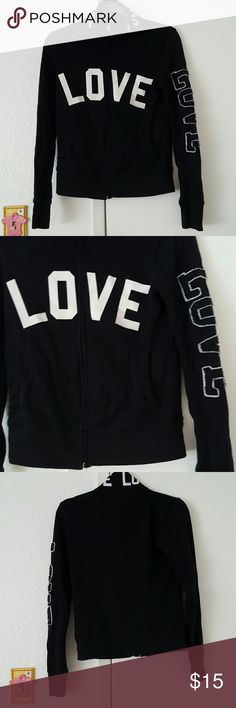 🚨 1ST OFFER 🚨 Light warm love jacket Embroiled love print on collar, left arm, and chest Jackets & Coats
