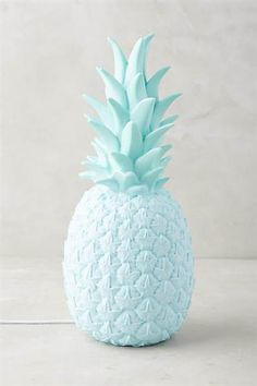 Goodnight Light Lampe Ananas UK Plug in Bleu – Urban Outfitters Pineapple Lights, Pineapple Lamp, Pineapple Girl, Fred Instagram, Photo Bleu, Urban Outfitters Home, Everything Is Blue, Bleu Pastel, Blue Aesthetic Pastel
