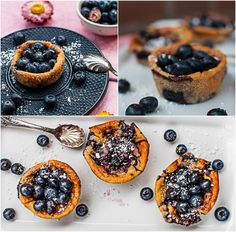 mini blueberry cheese cake without eggs   ///  Heidelbeer-Käseküchlein - ohne Ei und ohne Boden  *by Deli From The Valley