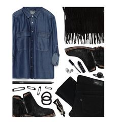 """Fringe"" by felytery ❤ liked on Polyvore featuring Zara, Abercrombie & Fitch, NARS Cosmetics, Levi's, John Lewis, Aesop, Bobbi Brown Cosmetics, Pieces, fringe and ootd"
