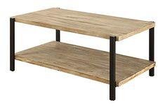 Convenience Concepts Wyoming Large Coffee Table Natural Fir  Black -- Read more reviews of the product by visiting the link on the image. (This is an affiliate link)