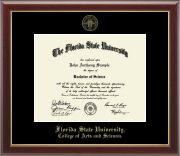 Florida State University Gold Embossed Diploma Frame in Gallery - Item #113659-FAR