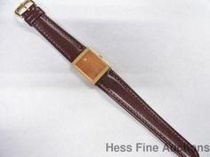 Rare 18k Gold Rolex Cellini Mirror Large Vintage Mens Watch #Rolex #Dress