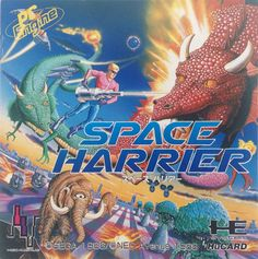 Space Harrier. A must-have. But not that thrilling on any handheld device. #pcengine