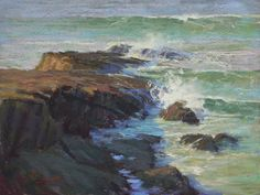 Whirling Waters, Pescadero by Kim Lordier Pastel ~ 12 x 16