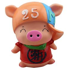 Creative Pig Piggy Bank For Saving Money Coin Bank Home Decor Ornaments B ** More info could be found at the image url.