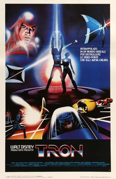 "Film: Tron (1982) Year poster printed: 1982 Country: Italy Size: 13"" x 27.5"" This is an original, Italian Locandina movie poster from 1982 for Tron starring Jeff Bridges, Bruce Boxleitner, David Warne"