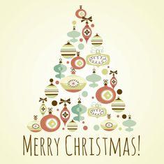 The offbeat Christmas tree design vector 01