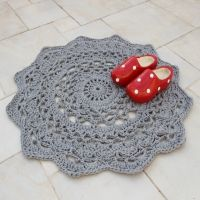 Giant Crocheted Doily Rug Pattern free pattern through TheYarnBox.com!