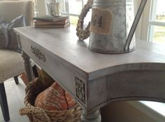 A first time Chalk Paint® decorative paint by Annie Sloan experience with a beautiful Victorian Side Table finished in Paris Grey Chalk Paint®   By Jeanette of Snazzy Little Things