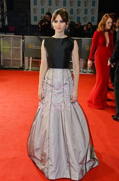 Felicity Jones in Dior Haute Couture 2015 BAFTA Red Carpet