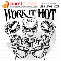 Digital File Work it Hot or Ground it Cold Linemen by BurntStudios