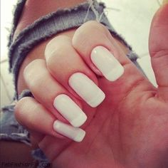 Shear white over a French manicure. Pretty & different