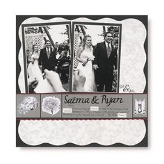 #papercraft #wedding #scrapbook #layout wedding album idea