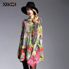 XIKOI 2017 New Oversized Sweaters Women Pullover Fashion Batwing Sleeve Print Slash Neck Pullovers Knitted Sweater Women Trendy Fashion, Fashion Outfits, Womens Fashion, Fashion Trends, Pretty Outfits, Beautiful Outfits, Couture Fashion, Fashion Beauty, Coral Lace Dresses