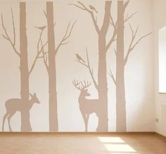 Wall decals brings a completely new fashion of decor inside your bedroom. With this bedroom wall decals and wallpaper for bedroom gallery ideas, you're able to revamp your home. Baby Boy Rooms, Baby Room, Wall Murals, Wall Art, Diy Wall, Wall Decor, Framed Art, Wall Decals For Bedroom, Woodland Nursery