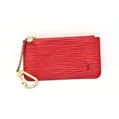 Vintage Louis Vuitton Red Epi Coin Purse or Key Pouch