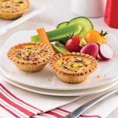 Mini-quiches à l'italienne Mini Quiches, Crepes, Caramel, Muffin, Gluten, Yummy Food, Lunch, Snacks, Breakfast