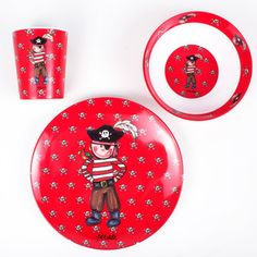 Pirate 3 Piece Dinner Set now featured on Fab. [Baby Cie]