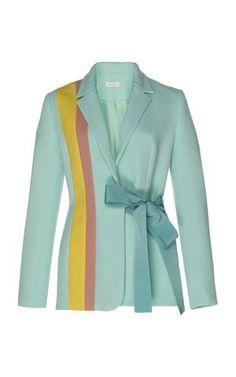 Get inspired and discover Delpozo trunkshow! Shop the latest Delpozo collection at Moda Operandi. Classy Outfits, Chic Outfits, Hijab Fashion, Fashion Dresses, Striped Jacket, Striped Blazer, Kimono Jacket, Blazer Jacket, Colorful Fashion
