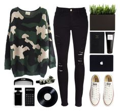 """""""{ What Do You Mean? }"""" by cris-love ❤ liked on Polyvore featuring Frame Denim, Converse, Prada, Eight & Bob, LEXON, Narciso Rodriguez and Aesop"""