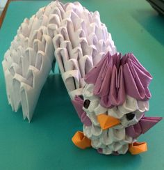 3D origami penguin and igloo