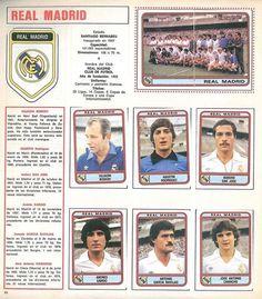 Real Madrid (1981/82) Football Photos, Sport Football, Santiago Bernabeu, Football Stickers, Real Madrid Players, Band Posters, Football Team, Trading Cards