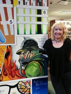 Ms. Garbincus and her awesome mural at the Euclid Public Library. Go and check it out. Many of the books are taught at the high school level and are part of the English curriculum. Can you pass the quiz?