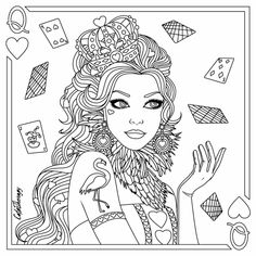 938 Best Beautiful Women Coloring Pages for Adults images