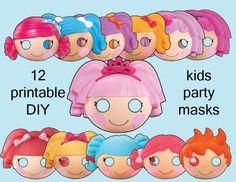 DIY Printable Lalaloopsy Kids Party Masks. $3.00...kinda creepy, ok- really creepy