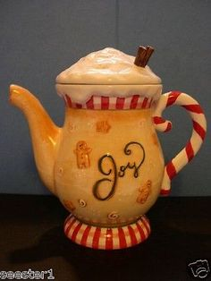 GINGERBREAD /JOY   COCOA PITCHER